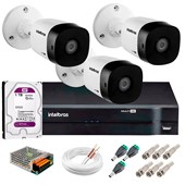 KIT 3 CÂMERAS VHD 3120 B G5   DVR INTELB